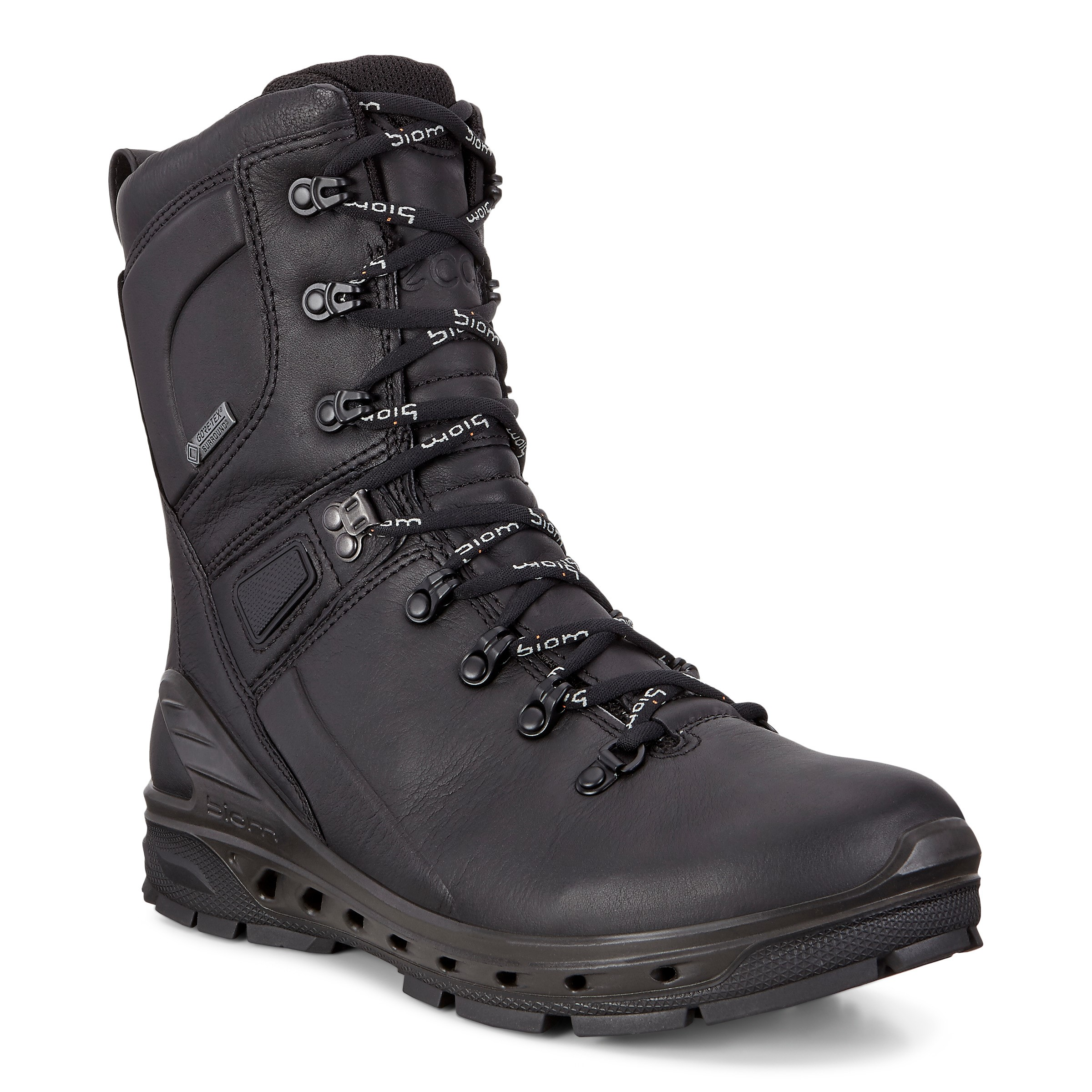 103ff5785 Details about ECCO Biom Venture TR Black Goretex Leather All Terain Outdoor  Hiking Boots